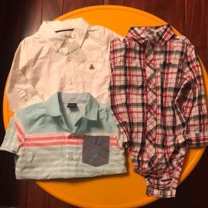 Gap,Disney,Nautica button down shirts